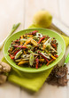 lentils salad with capsicum onions and ginger,selective focus