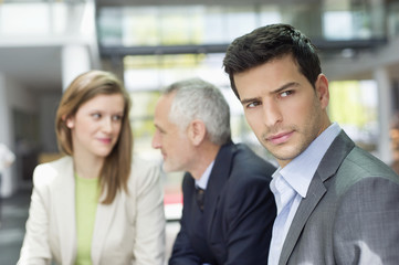 Business executives in an office