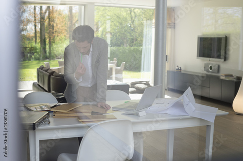 Interior designer working in the office