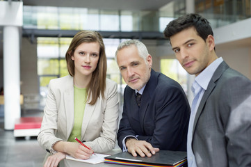 Portrait of business executives in an office