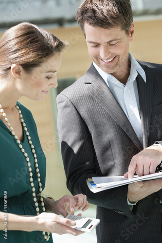 Business executives working in an office