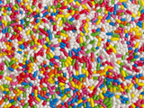 artificial candies background poster