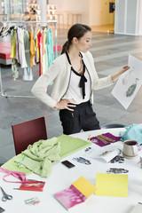 Female fashion designer working in an office