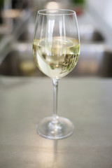 White wine in a wineglass