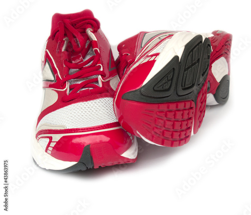 sport running shoes isolated on white background