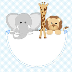 baby animals - leone, elefante, giraffa