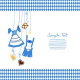 Octoberfest Symbols & Pattern Middle Blue/White