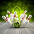 Bowling Strike grün fractal