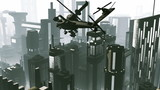 Apache AH-64D attacking helicopters in action  Realistic 3D rend poster