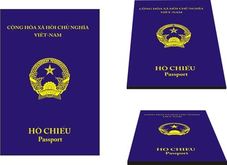 Viet-Nam vector passport