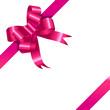 Noeud cadeau rose