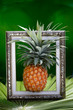 Fresh pineapple in the picture frame