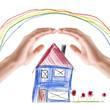 Hände schützen zuhause