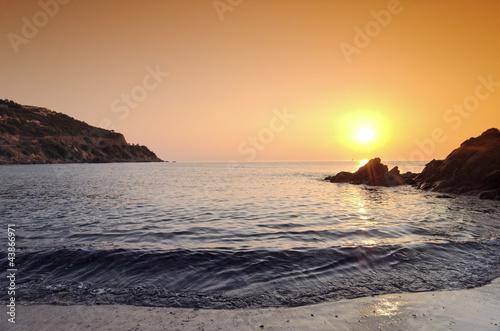 canvas print picture Plage de méditerranée, Conca