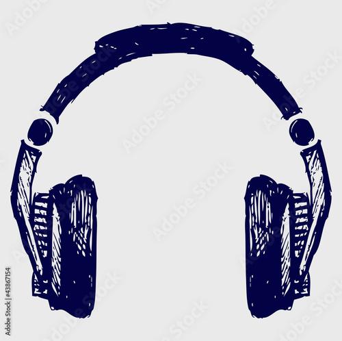 Headphones sketch - 43867154