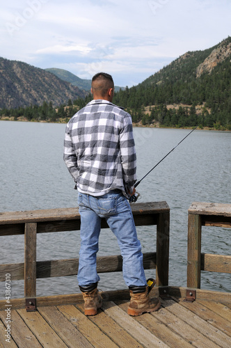 Fishing at the lake