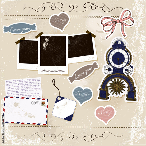 Scrapbook elements set.