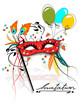 Carneval, Fasching Maske Einladung