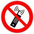Verbotszeichen - Mobilfunk