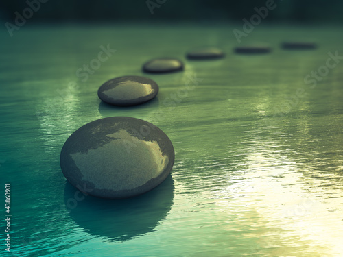 canvas print picture Zen Steine