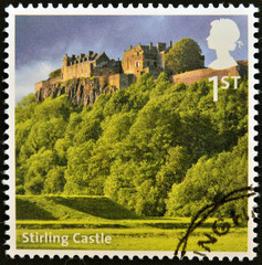 A stamp printed in Great Britain shows Stirling Castle