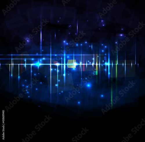 Abstract dark star backround editable vector illustration