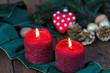 Zwei rote Kerzen