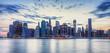 Skyline de New York en fin de journée.