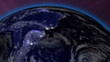 Earth from Space Lightstreaks over South America view from outer