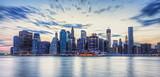 Skyline de New York en fin de journée. - Fine Art prints