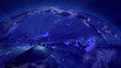Earth from Space Lightstreaks over Africa view from outer space