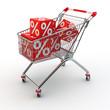 Einkaufswagen mit Angeboten