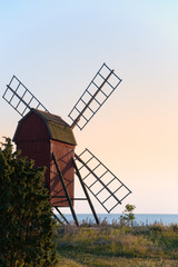 Windmühle bei Byxelkrok, Insel Öland, Schweden
