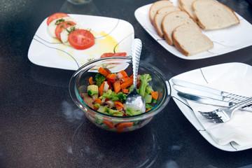 Vegetable and mozarella salad