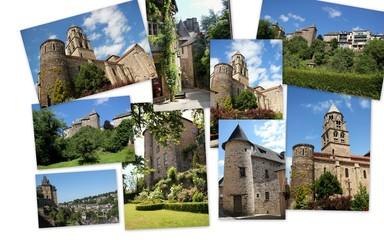 Multi-vues d'Uzerche.(Corrèze)