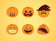 Hallowen - Pumpkin set