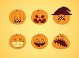 Hallowen - Pumpkin set