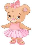 Fototapety Cute Teddy Bear Ballerina