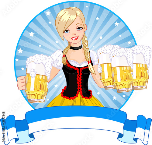 Oktoberfest girl label