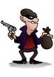 robber hold gun