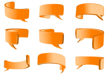 orange flexible talk bubble
