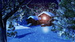 Christmas Snowy Scene 3D animation 05