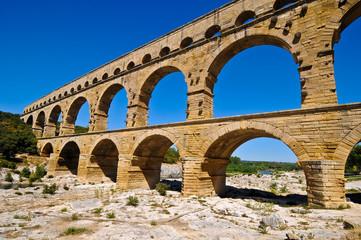 Pont du Gard, bridge of Gard, an ancient Roman aqueduct