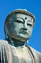 Profile of Daibutsu, Giant Buddha of Kamakura - Japan