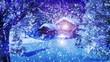 Christmas Snowy Scene 3D animation 04