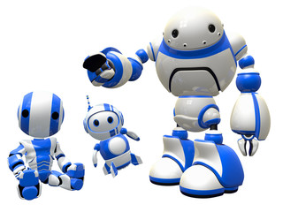 Three  Robots Joined in Unity