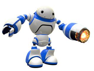 Industrial Robot with Heat Gun