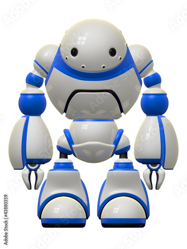 Big Cute Robot Standing Guard