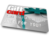 Gift Card Shopping Merchandise Plastic Credit Charge poster