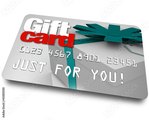 Gift Card Shopping Merchandise Plastic Credit Charge
